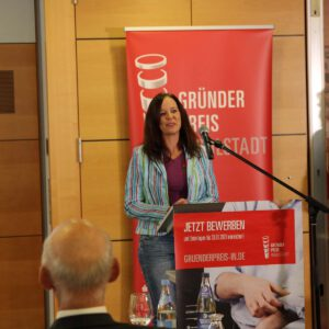 Wir haben den Publikumspreis beim Ingolstädter Gründerpreis gewonnen.